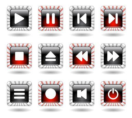 media buttons. Vector illustration illustration