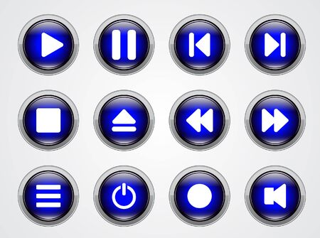 media buttons. Stock Photo - 7240795