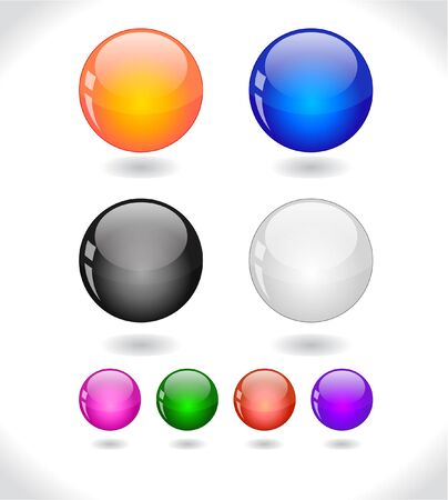 Glossy colorful abstract glass balls. Stock Photo - 7240765