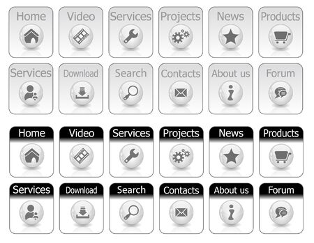Web buttons. Stock Photo - 7288071