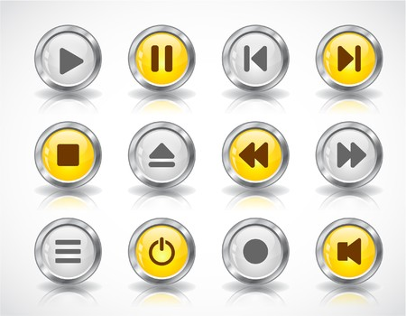 media buttons Stock Photo - 7288024
