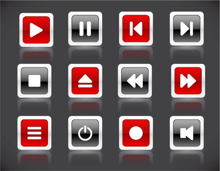 media buttons Stock Photo - 7287974
