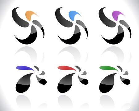 Set of abstract symbols photo