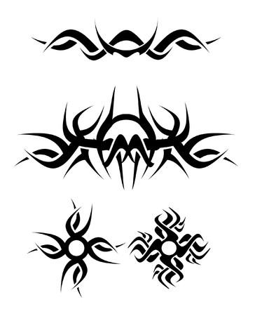 tattoo design set, vector photo