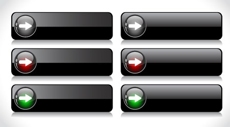 Web buttons. Vector illustration. illustration