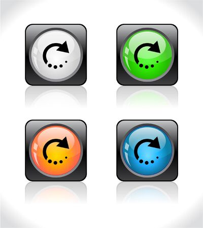 refreshing: Buttons for web. Stock Photo