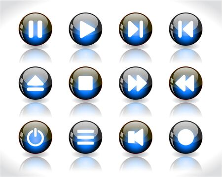 media buttons. Stock Photo - 7330462