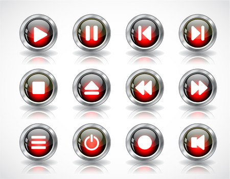 media buttons. Stock Photo - 7380224