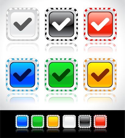 Buttons for web. Vector. Stock Photo - 7421590