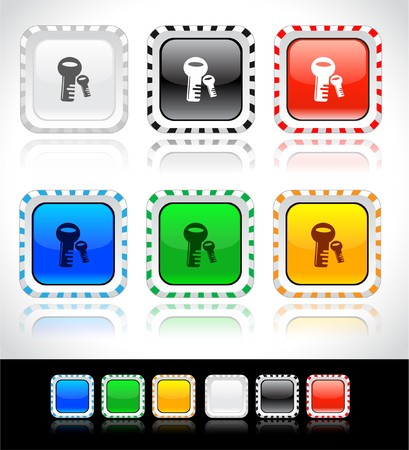 Buttons for web. Vector. Stock Photo - 7421616