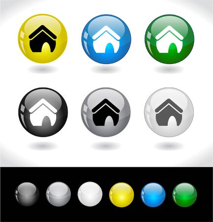 Buttons for web. Vector. Stock Photo - 7420788