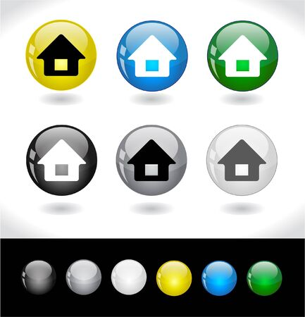 Buttons for web. Vector. Stock Photo - 7420761