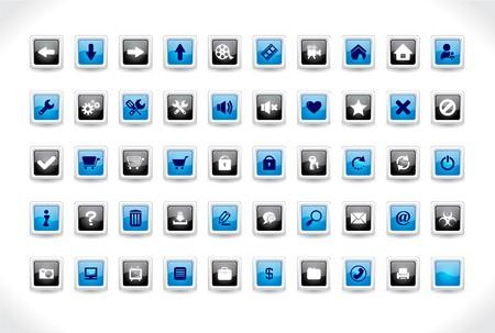 Web buttons.  illustration. Stock Illustration - 7600808