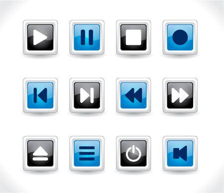 media buttons. illustration illustration