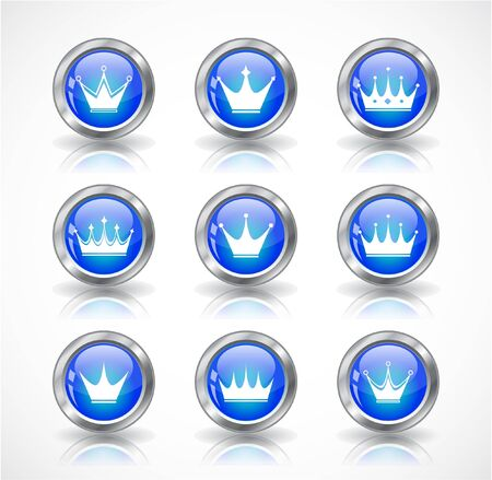 Buttons with crowns.   photo