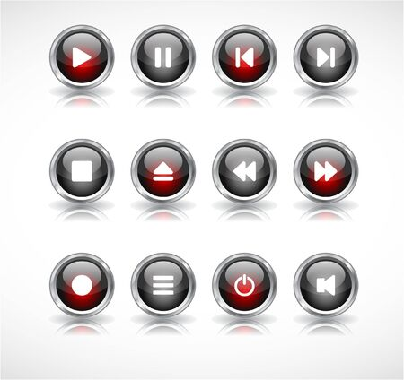 media buttons.  illustration illustration