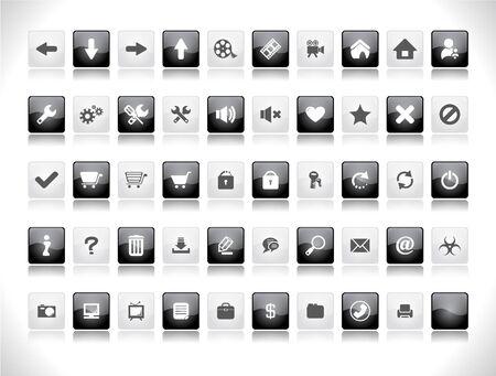 Web buttons.  illustration. Stock Illustration - 7600735