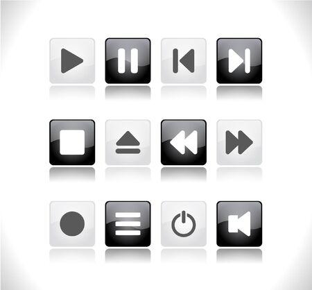 media buttons.   illustration Stock Illustration - 7600725