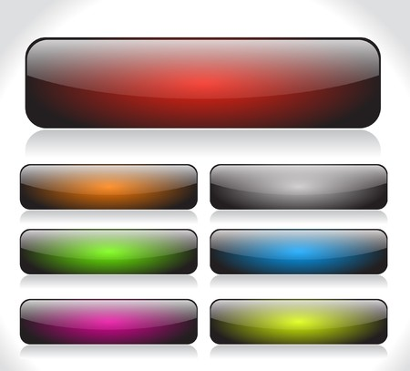 square buttons: Buttons for web. Vector. Stock Photo