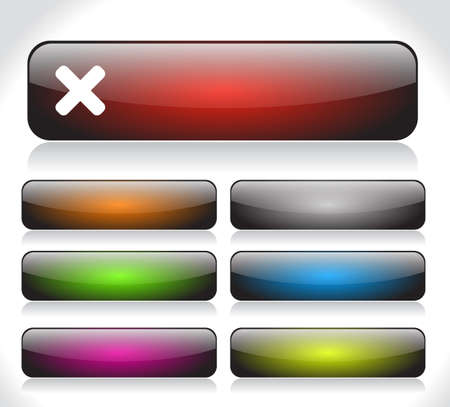 Buttons for web. Vector. photo