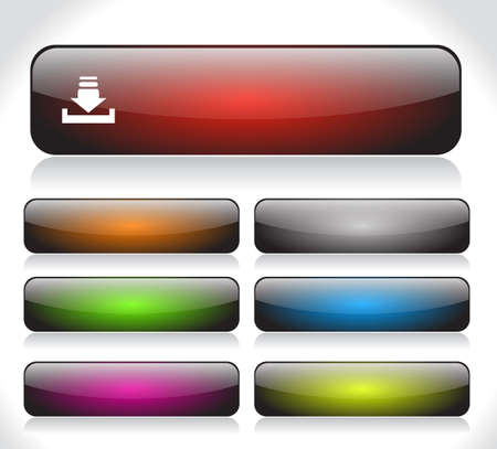 Buttons for web. Vector. Stock Photo