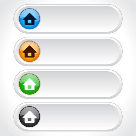 homestead: Buttons for web. Vector. Stock Photo