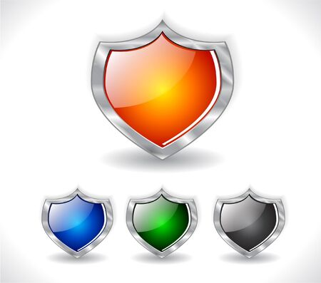 Shields. Vector. Stock Photo