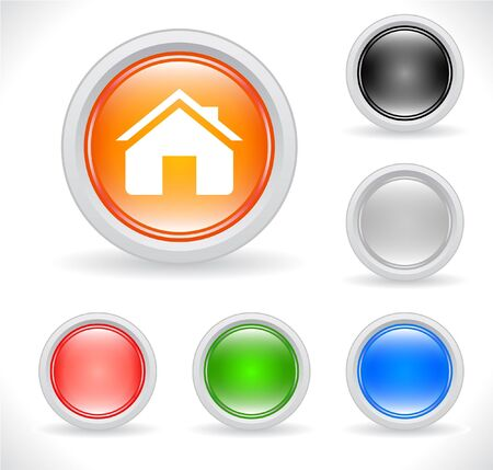 Buttons for web. Vector. Stock Photo - 7776269