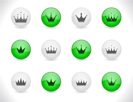 buttons with crowns Vector