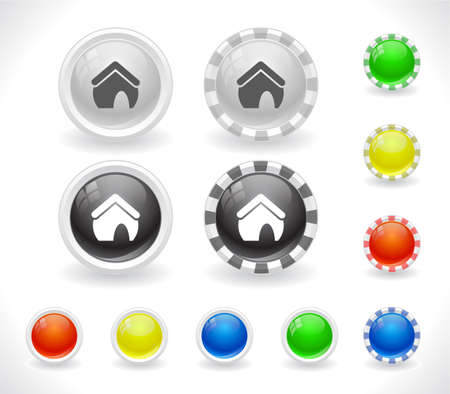 Buttons for web Stock Vector - 8624007