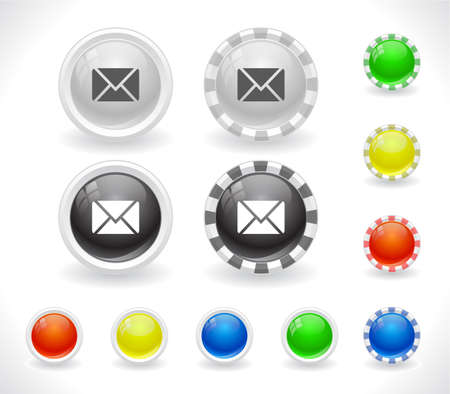 Buttons for web Stock Vector - 8624048
