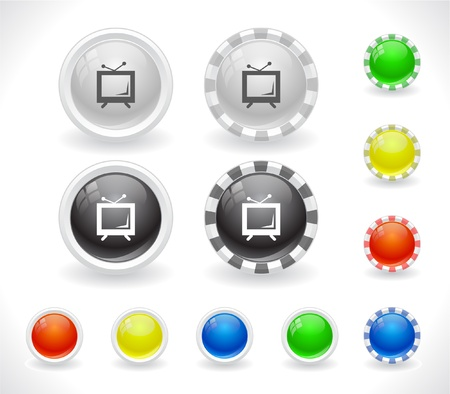 Buttons for web. Vector. Vector