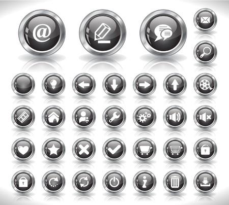 botones musica: Botones para web
