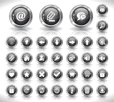 Buttons for web Stock Vector - 8720763