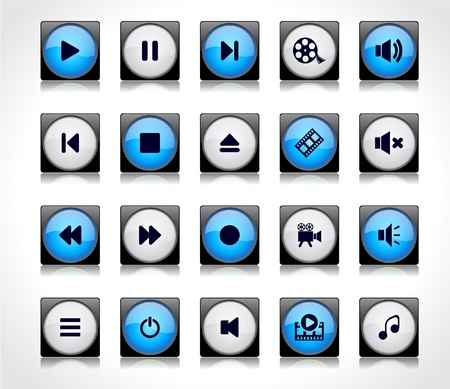 Buttons for web Stock Vector - 8720758