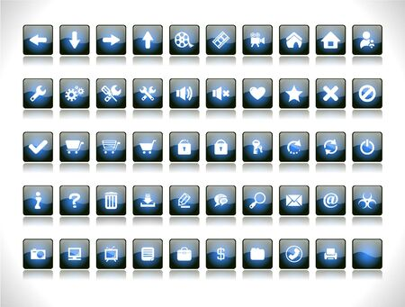 Buttons for web Stock Vector - 8668256
