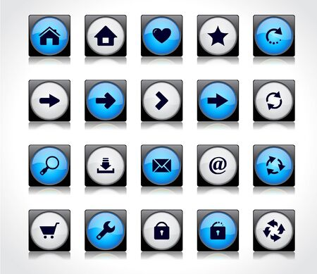 Buttons for web Stock Vector - 8668254