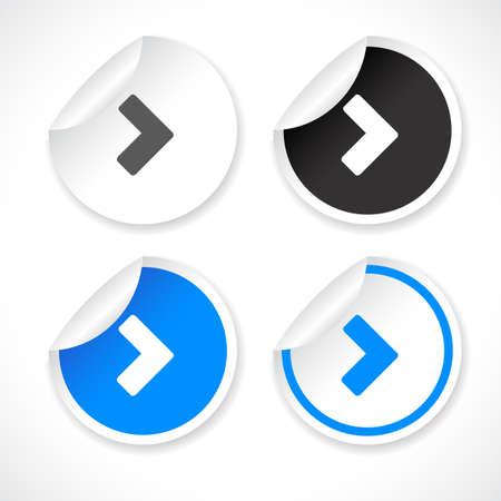 Stickers Stock Vector - 8772731