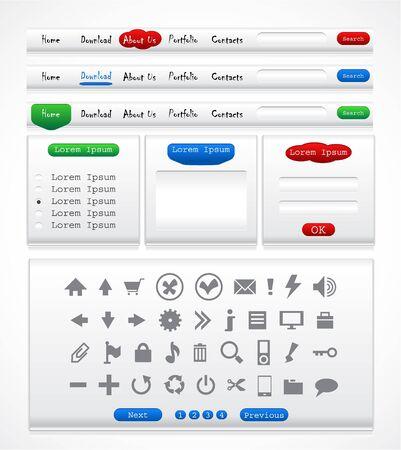 Set of elements for website Stock Vector - 9037335