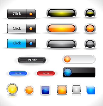 Set of button for website Stock Vector - 9037342