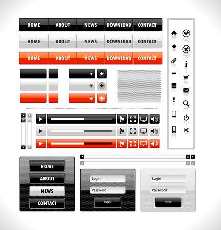 Set of elements for website Illustration