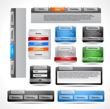 pesta�as: Conjunto de elementos Web