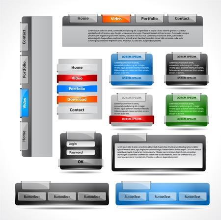Verzameling elementen voor website