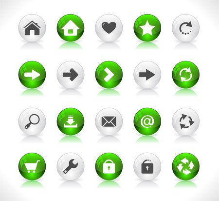 Shiny color buttons for web Stock Vector - 9037373