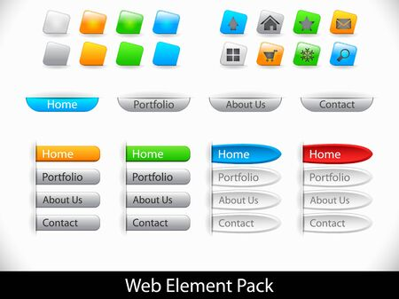 Set of elements for website Vector