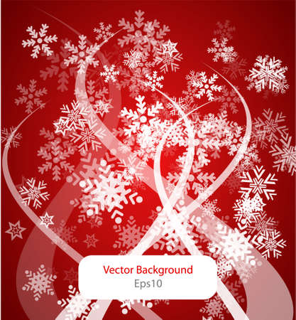 simple abstract red winter background Vector