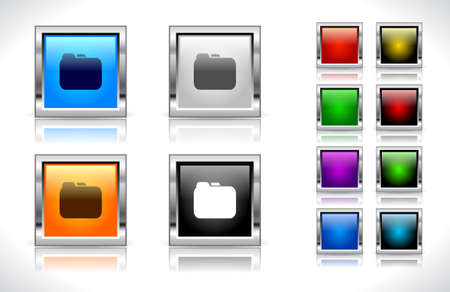 Buttons for web. Vector illustration. Stock Vector - 9107374