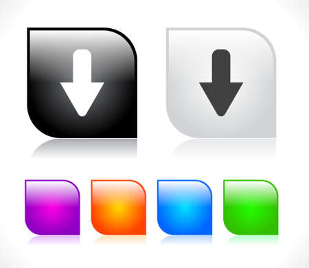 next button: Buttons for web. Vector illustration. Illustration