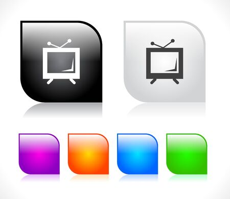 screen tv: Buttons for web. Vector illustration. Illustration