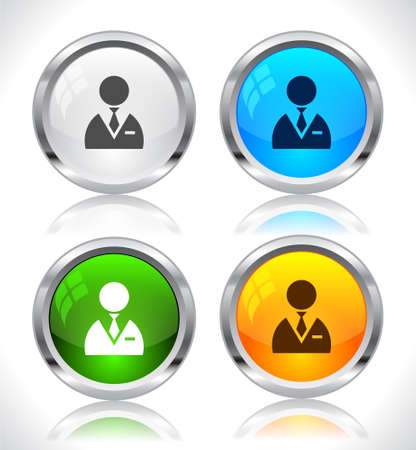 Metal web buttons. Vector illustration. Stock Vector - 9107279